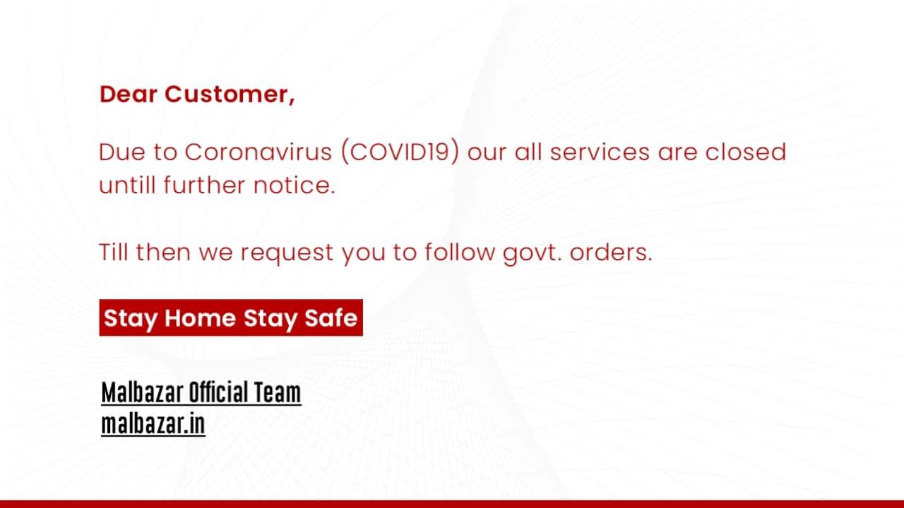 Notice Malbazar Official Delivery Service - Coronavirus